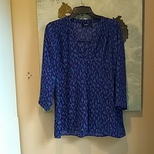 A.n.a. Purple Blue Red Blouse Size Medium